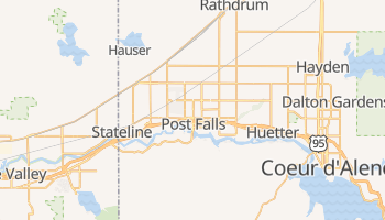Post Falls, Idaho map