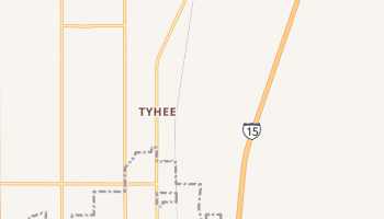 Tyhee, Idaho map