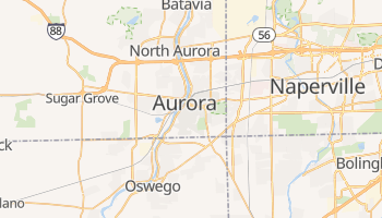Aurora, Illinois map