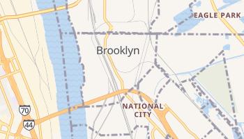 Brooklyn, Illinois map