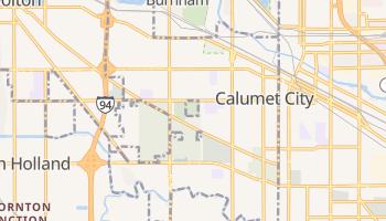 Calumet City, Illinois map