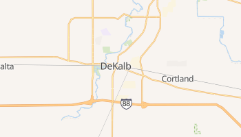 DeKalb, Illinois map