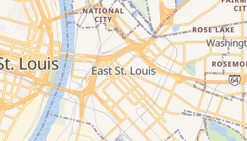 East Saint Louis, Illinois map
