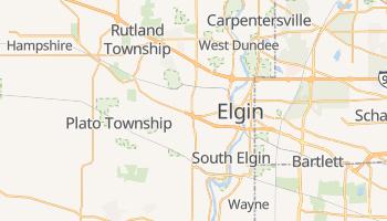 Elgin, Illinois map