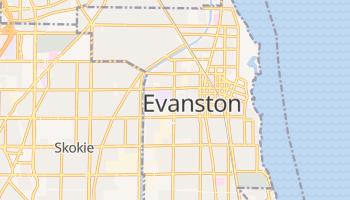 Evanston, Illinois map