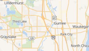 Gurnee, Illinois map