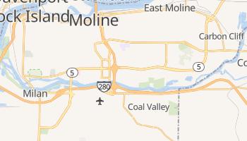 Moline, Illinois map