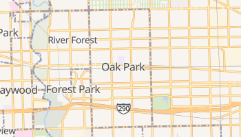 Oak Park, Illinois map