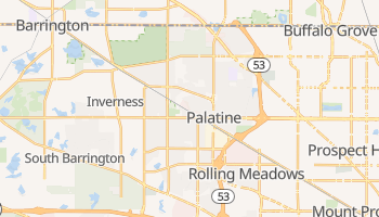 Palatine, Illinois map