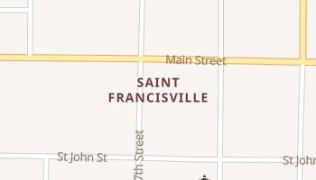 Saint Francisville, Illinois map