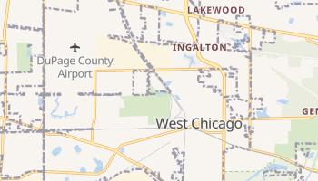 West Chicago, Illinois map