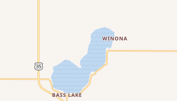 Bass Lake, Indiana map