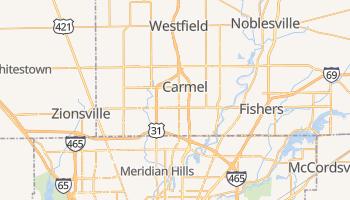 Carmel, Indiana map