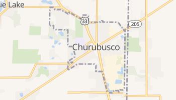 Churubusco, Indiana map