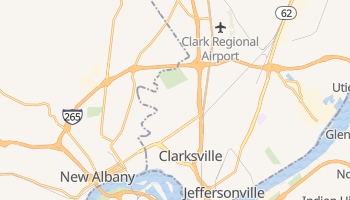 Clarksville, Indiana map