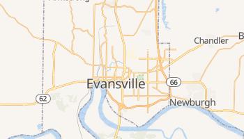 Evansville, Indiana map
