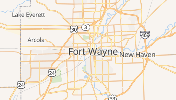 Fort Wayne, Indiana map