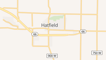 Hatfield, Indiana map