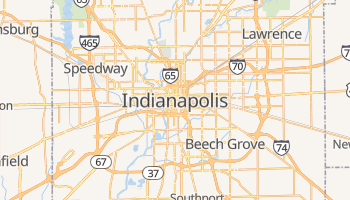 Indianapolis, Indiana map