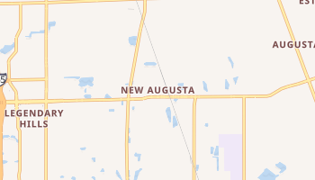 New Augusta, Indiana map