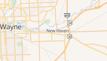 New Haven, Indiana map