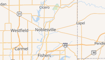 Noblesville, Indiana map