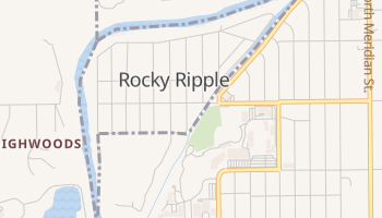 Rocky Ripple, Indiana map
