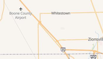 Whitestown, Indiana map