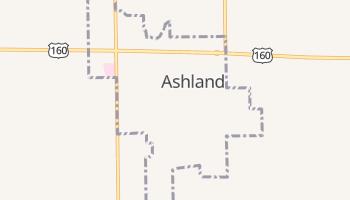 Ashland, Kansas map