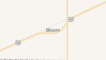 Bloom, Kansas map