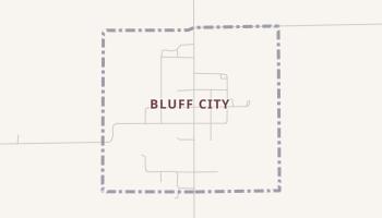Bluff City, Kansas map