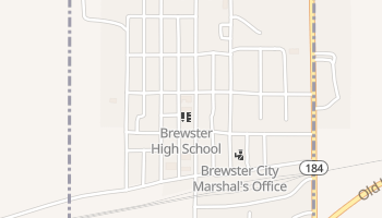 Brewster, Kansas map