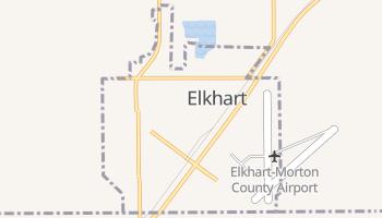 Elkhart, Kansas map