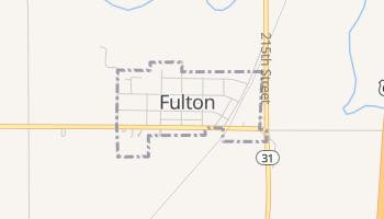 Fulton, Kansas map