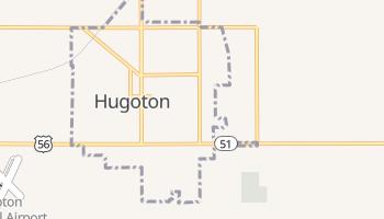 Hugoton, Kansas map