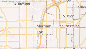 Merriam, Kansas map