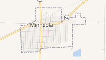 Minneola, Kansas map