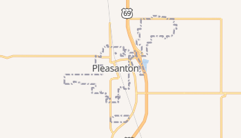 Pleasanton, Kansas map