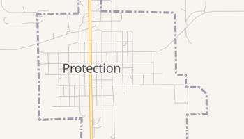 Protection, Kansas map