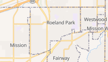 Roeland Park, Kansas map