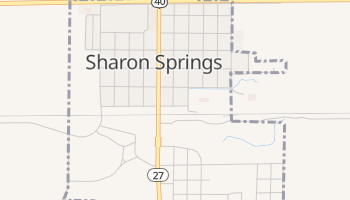 Sharon Springs, Kansas map