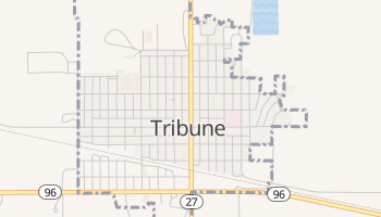 Tribune, Kansas map
