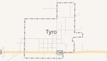 Tyro, Kansas map