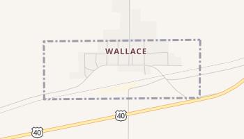 Wallace, Kansas map