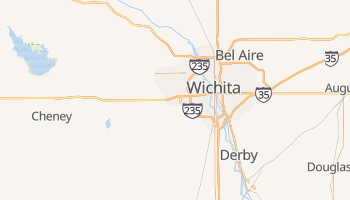 Wichita, Kansas map