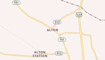 Alton, Kentucky map