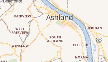 Ashland, Kentucky map