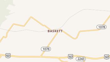 Baskett, Kentucky map