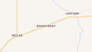 Bondurant, Kentucky map