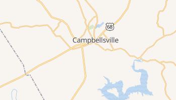 Campbellsville, Kentucky map